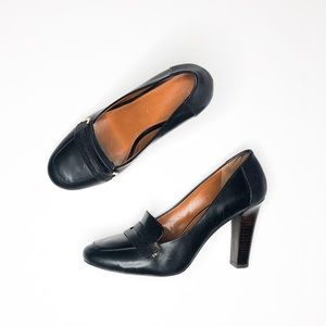 Banana Republic Black Parker loafer heels 9